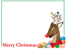 Merry Christmas reindeer card Royalty Free Stock Photo