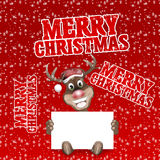 Merry christmas reindeer Royalty Free Stock Photos