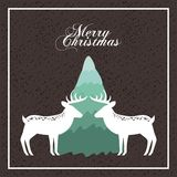 Merry christmas reindeer decoration card Royalty Free Stock Photography