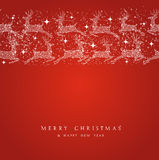 Merry Christmas reindeer decorations elements bord Royalty Free Stock Photography