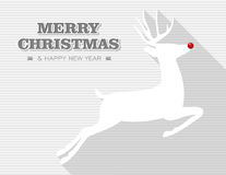 Merry Christmas reindeer. Royalty Free Stock Photography