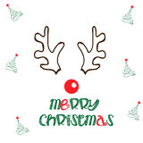 Merry christmas reindeer illustration Royalty Free Stock Images
