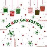 Merry christmas gift illustration Royalty Free Stock Image