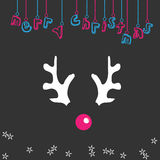 Merry christmas reindeer illustration Stock Photos