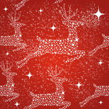 Merry Christmas reindeer seamless pattern backgrou Royalty Free Stock Image