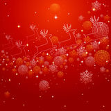 Merry Christmas reindeer shape and snowflakes composition EPS10 Royalty Free Stock Image