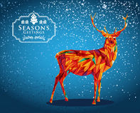 Merry Christmas reindeer shape. Trendy Christmas reindeer transparent elements blue background. EPS10  with transparency organized in layers for easy editing Stock Images