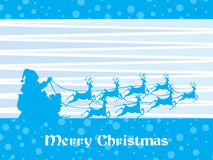 Merry christmas with reindeer silhouette Royalty Free Stock Images
