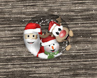 Merry christmas reindeer snow santa christmas Stock Photos