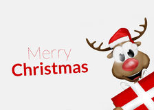 Merry Christmas Reindeer Stock Photo