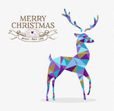 Merry christmas reindeer triangle hipster origami Royalty Free Stock Photos
