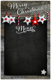 Merry Christmas Restaurant Menu Wooden Blackboard Copy Space Stock Photo