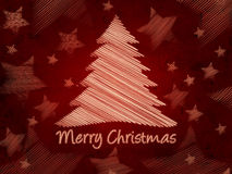 Merry Christmas retro background, christmas tree Stock Photos