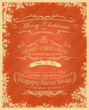 Merry Christmas Retro Background Royalty Free Stock Photos