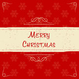 Merry christmas in retro beige frame, greeting card Stock Photo