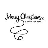 `Merry Christmas` retro calligraphy, Stock Photography