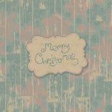 Merry Christmas retro card. Stock Photo