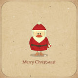 Merry Christmas Retro card with Santa Claus Royalty Free Stock Photos