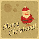 Merry Christmas retro card with Santa Claus Royalty Free Stock Photography
