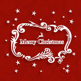 Merry Christmas retro label greeting card Royalty Free Stock Photo