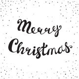 Merry Christmas Retro Lettering Composition Royalty Free Stock Photography