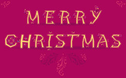 Merry Christmas with retro letters Royalty Free Stock Images