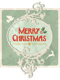 Merry christmas retro sign Royalty Free Stock Photo