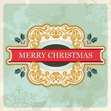 Merry christmas retro sign Stock Images
