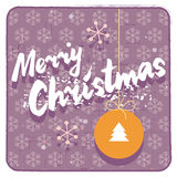 Merry Christmas retro style card Stock Photo