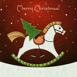 Merry Christmas Retro Style Greeting Card Royalty Free Stock Photo