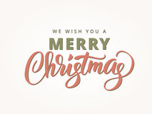 Merry christmas retro style typography Stock Image