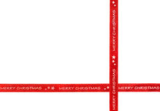 Merry Christmas ribbon Stock Photo