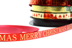 Merry Christmas ribbon B Stock Images