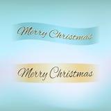 Merry Christmas ribbon Royalty Free Stock Image