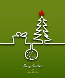 Merry Christmas ribbon paper design for greeting card Stock Photography