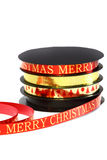 Merry Christmas ribbon A Stock Photography