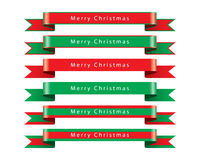 Merry Christmas Ribbon set vector Royalty Free Stock Image