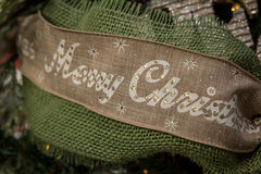 Merry Christmas Ribbon Royalty Free Stock Images