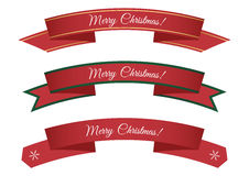 Merry Christmas ribbons Royalty Free Stock Image