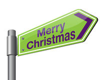 Merry christmas 2017 road sign Royalty Free Stock Image