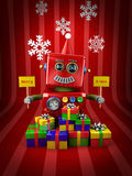 Merry Christmas Robot Stock Image