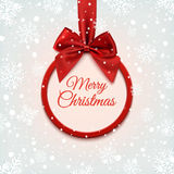 Merry Christmas round banner. Stock Images