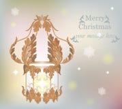 Merry Christmas Royal decor Stock Images