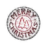 Merry Christmas Rubber Stamp Royalty Free Stock Images