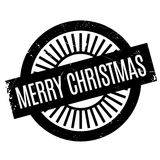 Merry Christmas rubber stamp Royalty Free Stock Photo