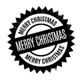 Merry Christmas rubber stamp Royalty Free Stock Photography