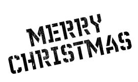 Merry Christmas rubber stamp Stock Photo