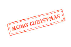 `merry christmas ` rubber stamp over a white background Royalty Free Stock Image