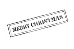 `merry christmas ` rubber stamp over a white background Stock Image