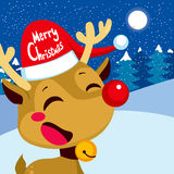 Merry Christmas Rudolph Stock Photo